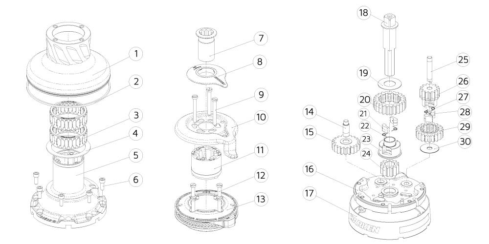 Harken Spare: Peeler for Radial Winch size 46 & 50