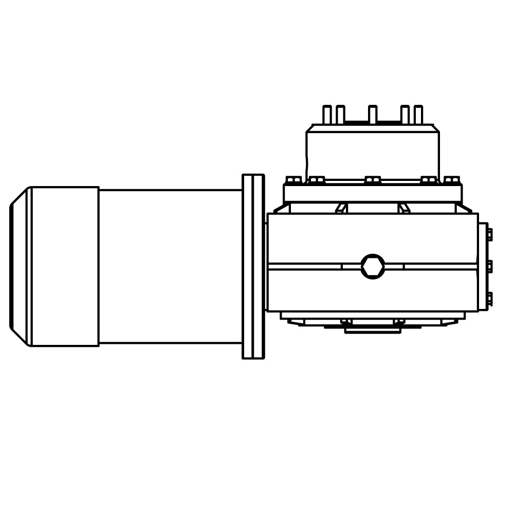 Lewmar V5  C5 12v Motor Gearbox