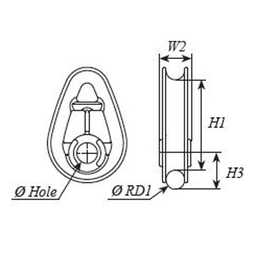 selden code x 25 thimble for torque rope